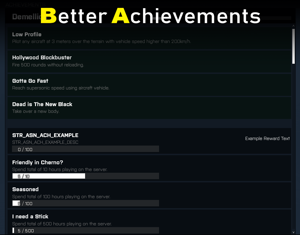 Better Achievements