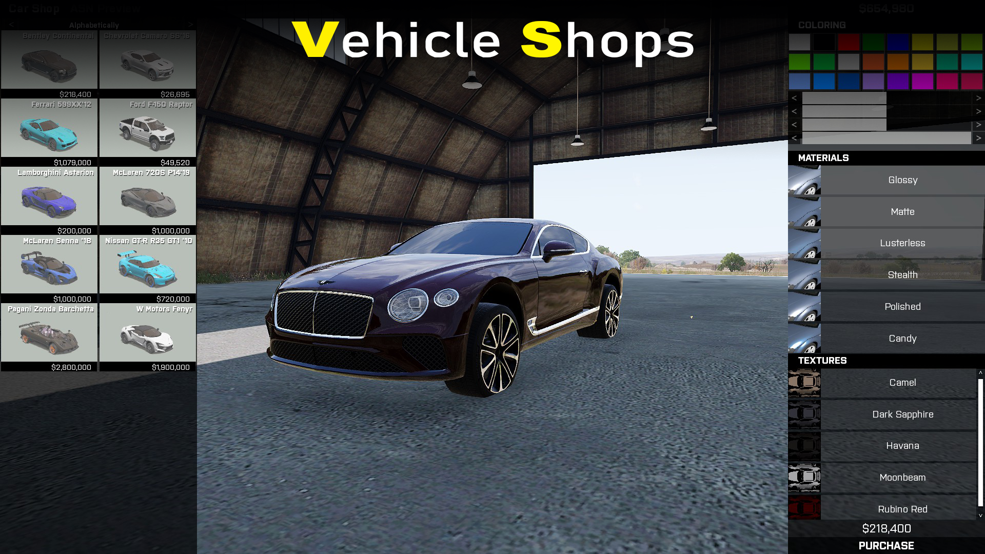 Vehicle Shops