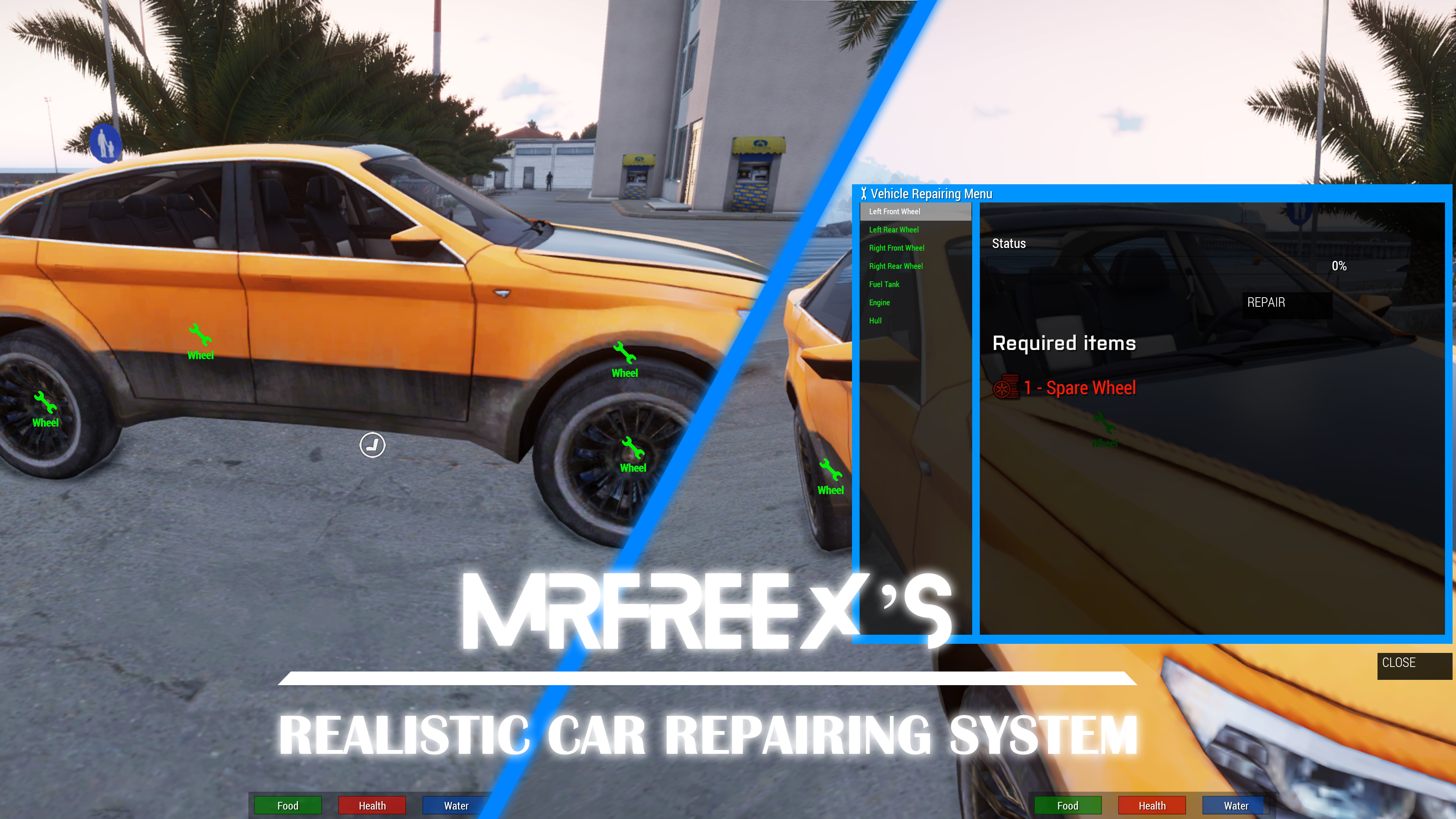 Realistic Car Repairing System