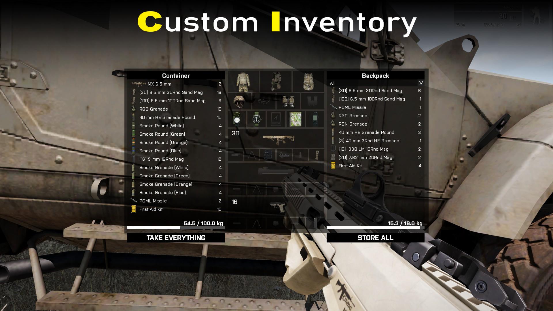 Custom Inventory